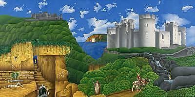 Excalibur Painting - The Legend Of Camelot by Joe Bartz