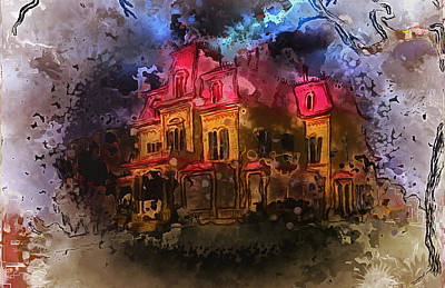 Digital Art - The Legend Of Hill House by Mario Carini