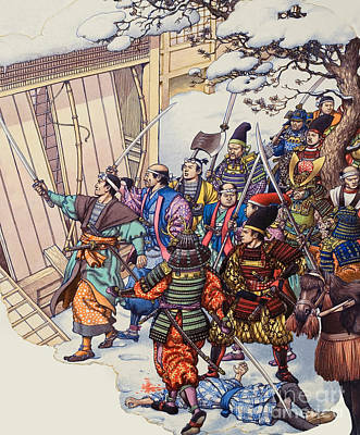 Plotting Painting - The Legend Of The Forty-seven Ronin by Pat Nicolle