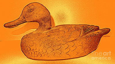 Photograph - The Legend Of The Golden Duck by Richard W Linford