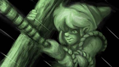 Curve Digital Art - The Legend Of Zelda Link's Awakening by Maye Loeser