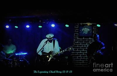 Photograph - The Legendary Chuck Berry 2 by Kelly Awad