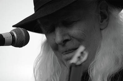 Photograph - The Legendary Johnny Winter by Mike Martin