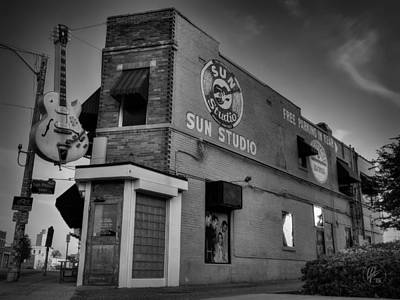 Rhythm And Blues Photograph - The Legendary Sun Studio 001 Bw by Lance Vaughn