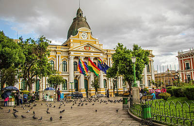 Photograph - The Legislative Palace, Plaza Murillo, La Paz, Bolivia by Venetia Featherstone-Witty