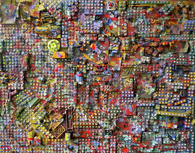 Lego Mixed Media - The Lego City by Dylan Chambers