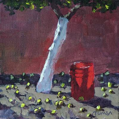 Painting - The Lemon Bucket - Art By Bill Tomsa by Bill Tomsa