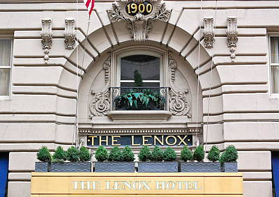 The Lenox Hotel - Boston Ma Art Print