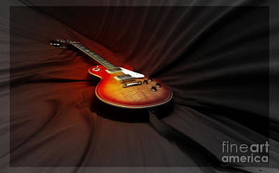 Manipulation Photograph - The Les Paul by Steven Digman