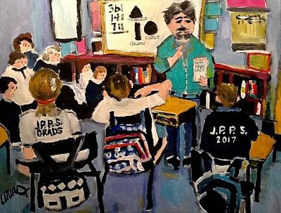 Litvack Painting - The Lesson by Michael Litvack
