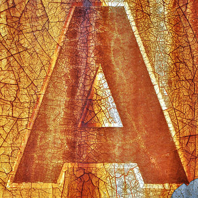 Photograph - The Letter A Is For... by Luke Moore