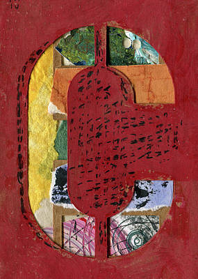 Mixed Media - The Letter C by Robert Cattan