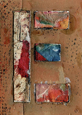 Mixed Media - The Letter E by Robert Cattan