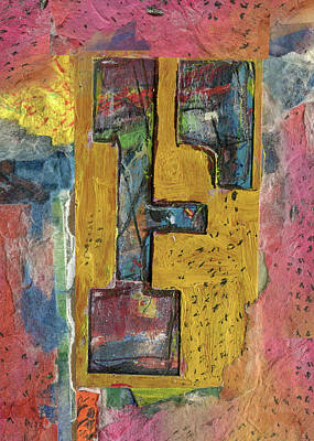 Mixed Media - The Letter F by Robert Cattan