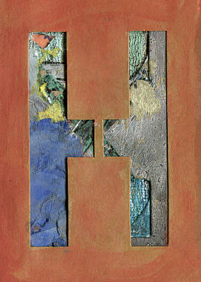Mixed Media - The Letter H by Robert Cattan