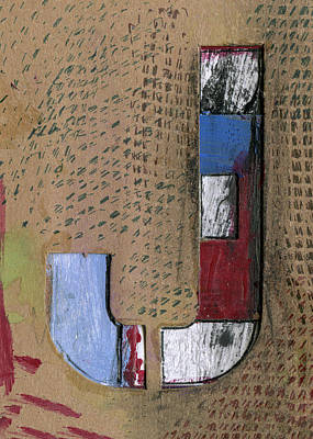 Mixed Media - The Letter J by Robert Cattan