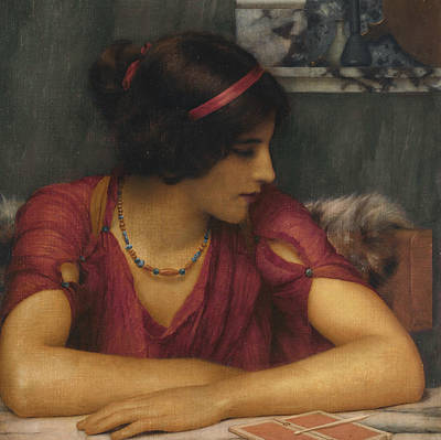 Pre-20th Painting - The Letter by John William Godward