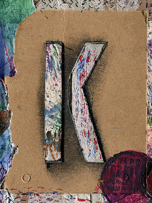 Mixed Media - The Letter K by Robert Cattan