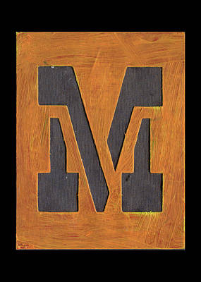 Mixed Media - The Letter M by Robert Cattan