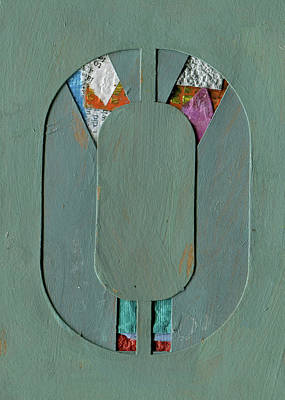 Mixed Media - The Letter O by Robert Cattan