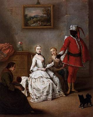 Longhi Painting - The Letter Of The Moor by Pietro Longhi