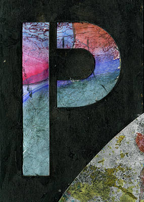 Mixed Media - The Letter P by Robert Cattan