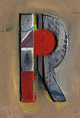 Mixed Media - The Letter R by Robert Cattan
