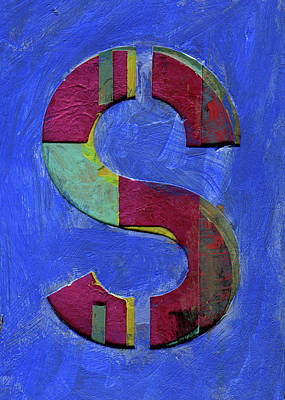 Mixed Media - The Letter S by Robert Cattan