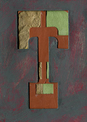 Mixed Media - The Letter T by Robert Cattan