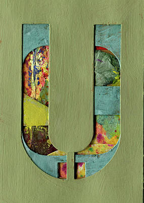 Mixed Media - The Letter U by Robert Cattan