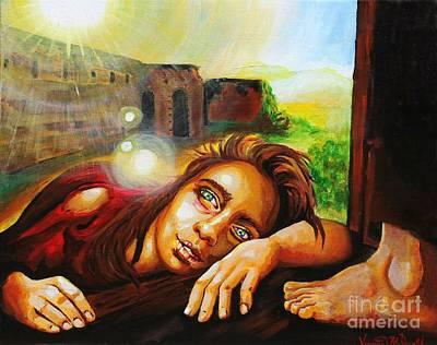 Painting - The Levite's Concubine by Veronica McDonald