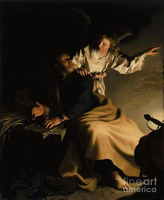Darkness Painting - The Liberation Of Saint Peter by Abraham Bloemaert