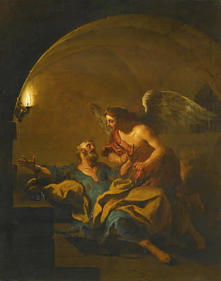 Liberation Painting - The Liberation Of Saint Peter by Jean-Francois Detroy