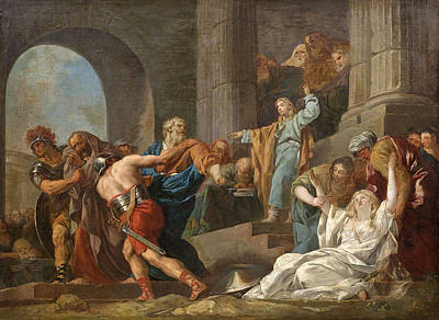 Liberation Painting - The Liberation Of Susanna By Daniel by Attributed to Francois-Guillaume Meneageot