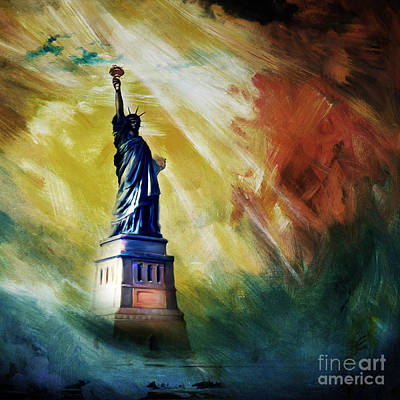 Fineartamerica.com Painting - The Liberty Of Statue 01 by Gull G