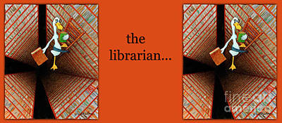 Library Painting - The Librarian... by Will Bullas
