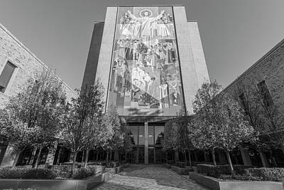 Photograph - The Library At Notre Dame  by John McGraw