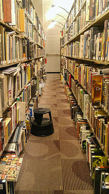Step Stool Photograph - The Library by Erin Cadigan