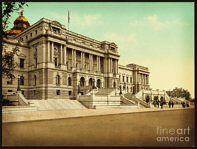 Library Painting - The Library Of Congress Washington by Celestial Images