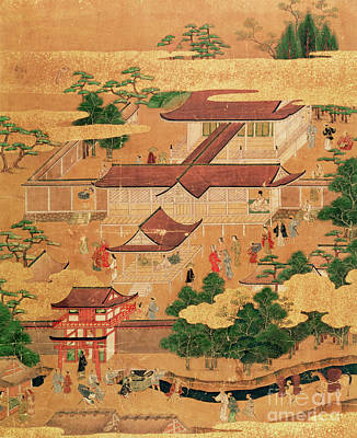 Edo Painting - The Life And Pastimes Of The Japanese Court - Tosa School - Edo Period by Japanese School