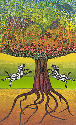 Etc Mixed Media - The Life-giving Tree. by Jarle Rosseland