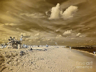 Photograph - The Lifeguard Stand by Jeff Breiman