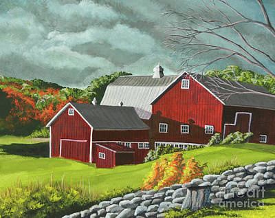 Barn Poster Painting - The Light After The Storm by Charlotte Blanchard