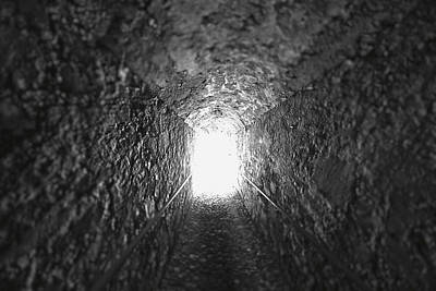 Lights In Tunnel Photograph - The Light At The End Of The Tunnel by George Oze