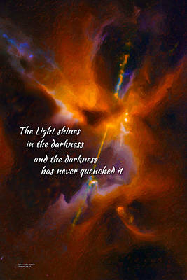 The Light Art Print by Chuck Mountain