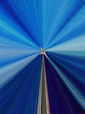 Digital Art - The Light Fantastic Speedway by Tim Allen