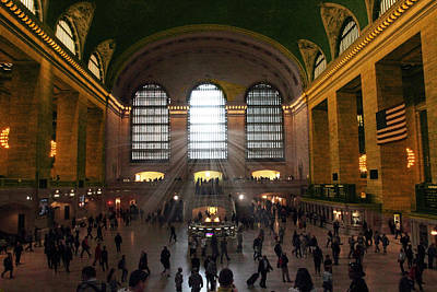 Rush Hour Digital Art - The Light Of Grand Central  by Jessica Jenney