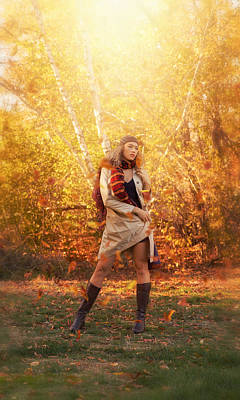 Photograph - The Light Of October by Lilia D