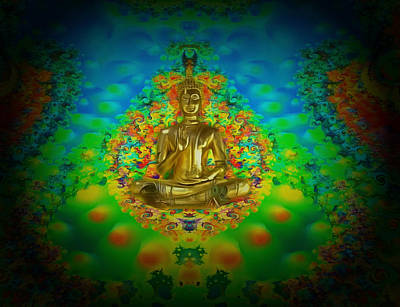Digital Art - The Light Of The Buddha by Mario Carini