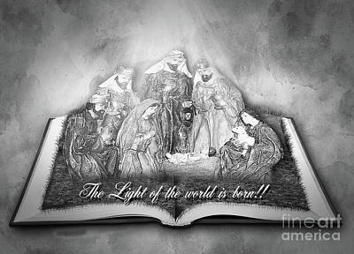 Photograph - The Light Of The World Is Born Bw by Leticia Latocki